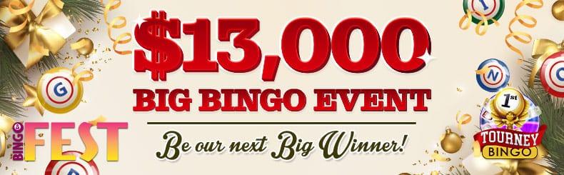 Bingo FEST December big bingo event