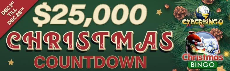 cyberbingo christmas countdown bonuses