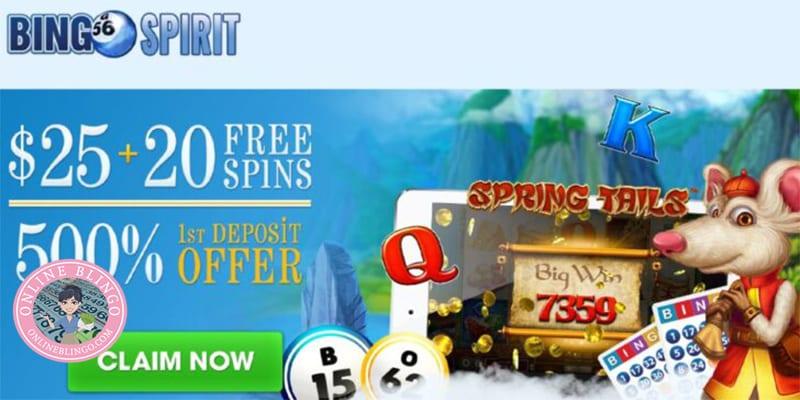 Bingo Spirit Casino No Deposit Bonus Screenshot