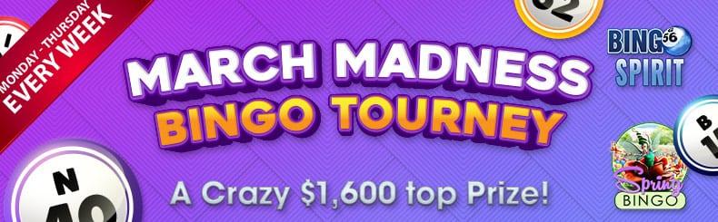 BingoSpirit Casino Bonuses win crazy in the march madness bingo tourney at bingospirit