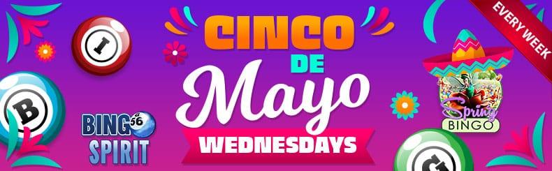 bingospirits Casino 5000 cinco de mayo wednesdays