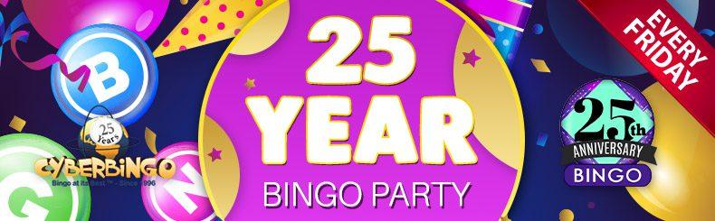Cash Splash in CyberBingo's 25th Anniversary Bash